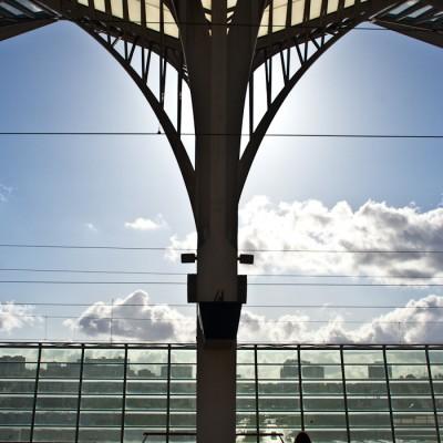 Estação do Oriente Platform in Lisbon, Portugal