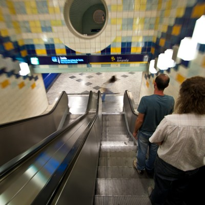 The Metro in Lisbon, Portugal