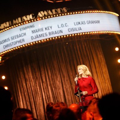 Helle Thorning Smith @ Danish Music Awards 2015
